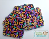 Cloth Wipes 6 Pack Jelly Bean fabric - Introductory Price