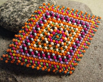 Candy Dish, a Hand Beaded Hair Barrette