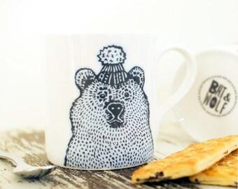 Illustrated Bear China Mug