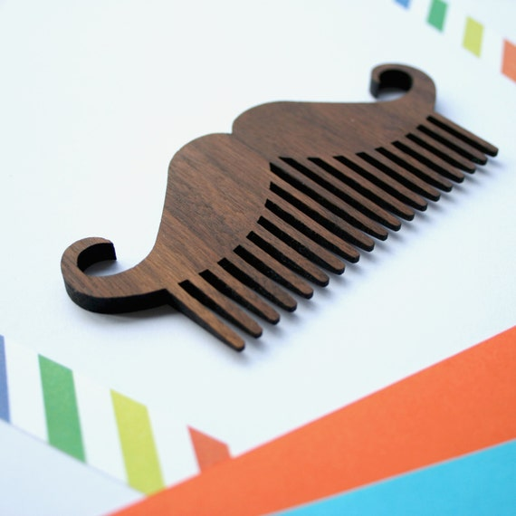 wooden beard grooming moustache comb by woodpaperscissorsuk. Black Bedroom Furniture Sets. Home Design Ideas
