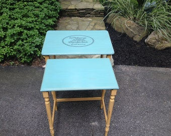 French Country Upcycled Nesting Tables