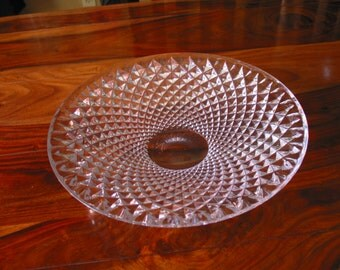 Gorgeous Vintage Diamond Cut Crystal Bowl