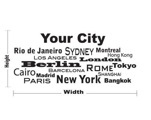 OFF Fall Sale World Cities Custom Decal Sticker Mural Vinyl - Custom vinyl wall decals falling off