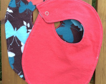 Butterfly bibs and burp cloths