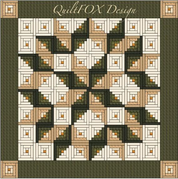 Log Cabin Quilt Pattern Log Cabin Carpenter Star King : log cabin quilt layouts - Adamdwight.com