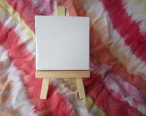 Brand New ~ Mini Canvas and Folding Easel Set ~ Both pieces included and ready to use!