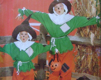 VINTAGE Butterick Pattern 4287 Children's/Girls/Boys' Scarecrow Costume