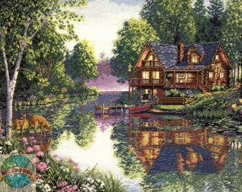 Cabin Fever Counted Cross Stitch Kit