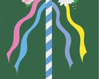 Maypole Handcrafted Applique House Flag