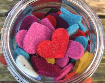 100 Assorted Felt shapes in thick woolen felt