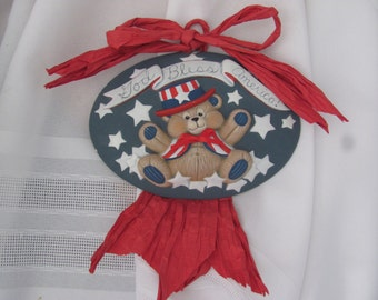 Americana God Bless America Eagle Wall Hanging