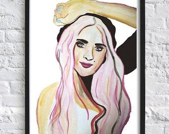 Kara, A Watercolour Fashion Illustration