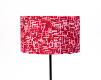 Drum lampshade in pink