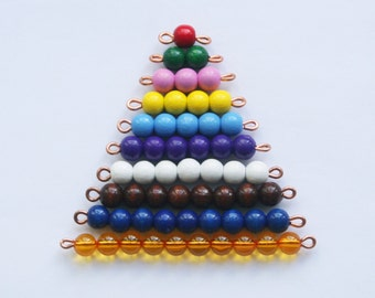 Coloured beads stair / Montessori education / Montessori material / Montessori math / Math for kids / Counting for kids