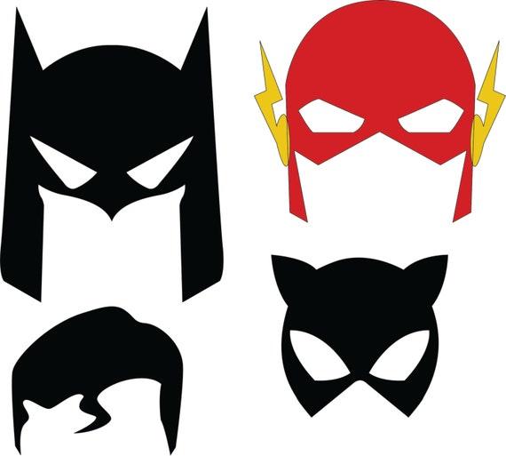 Maschere di supereroi dc file in formato svg dxf for Maschera di flash da colorare