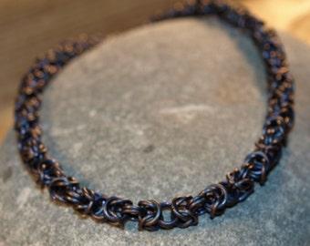 Anodized Titanium Byzantine Bracelet