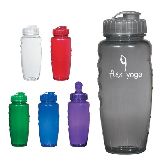100 personalized plastic water bottles custom by