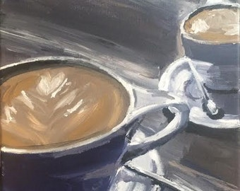 Coffee Cup Original Acrylic Painting 12 X 12