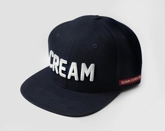 Dark Navy Cream Snapback