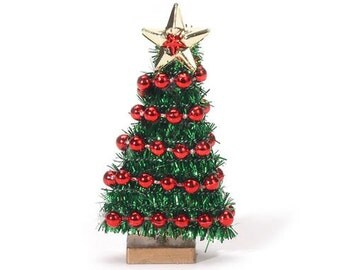 Christmas Tree Miniature Dollhouse Accessory Diorama Shadow Box 1:12 Scale - 340
