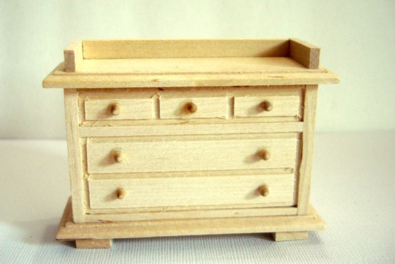 Dollhouse Kitchen Buffet Unfinished Pine Dollhouse Furniture Scale 1 ...