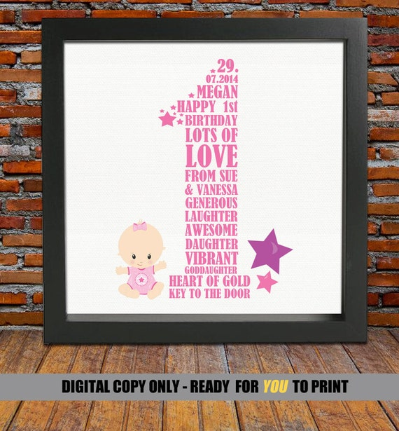 Personalized 1st Birthday Gift 1st Birthday 1st Birthday