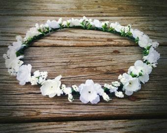 Dainty White Flower Crown