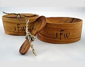 Salt Cellar/Mini Herb Bowls with Spoon, Personalized/Monogrammed - Laser Engraved