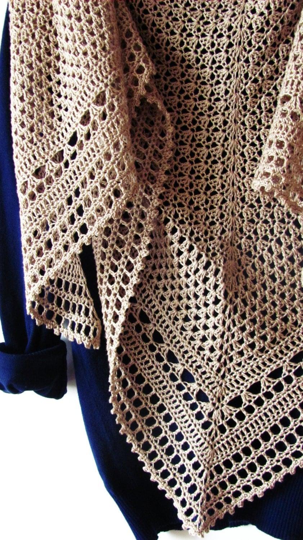 Hourglass shawl pdf crochet pattern - Toca de ganchillo ...