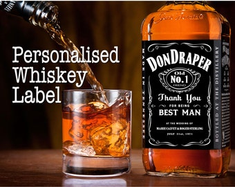 Personalised Tennessee Whiskey Bottle Label