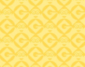 Minions Yellow Geo Blender by Quilting Treasures Cotton Woven Fabric 1 Yard