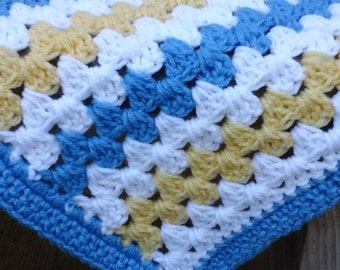 Made to Order 4' by 6' Crochet Blanket - Granny Stripe Afghan, Custom Blanket, Crochet Blanket, Beach Blanket, Home Décor, Crochet Afghan