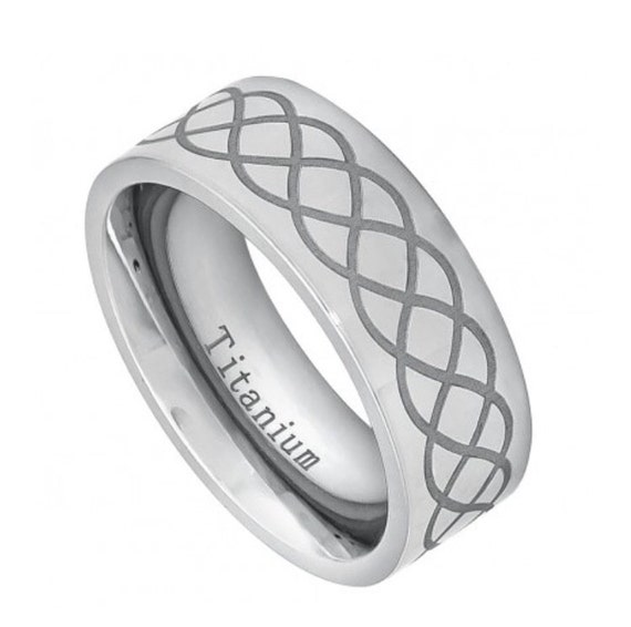 infinity s rings titanium wedding bands infinity by