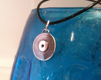 Handcrafted Sterling Silver Record Pendant -MADE TO ORDER