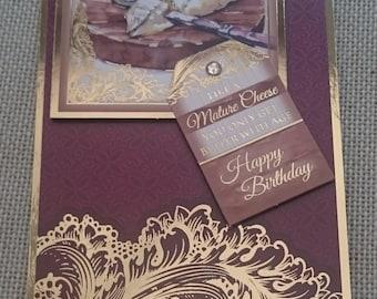Handmade DL Greeting Card - Birthday