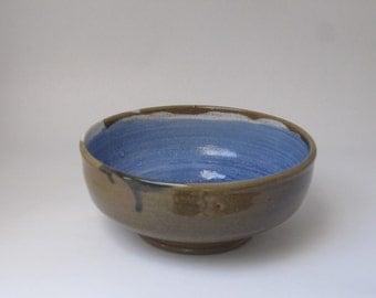 Handmade Stoneware Swirl Bowl