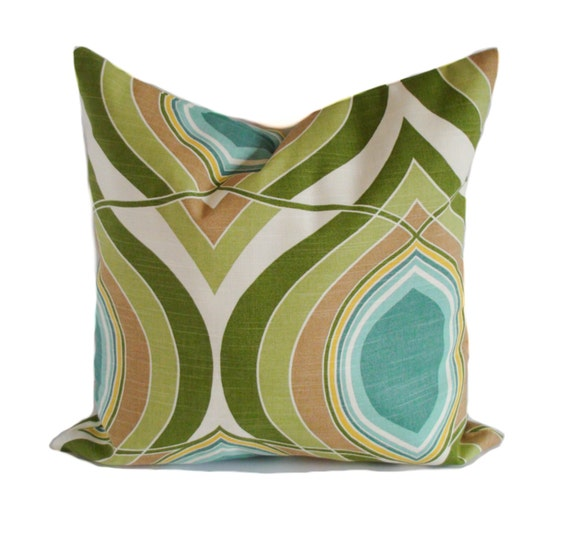 22x22 Decorative Pillows : Pillow cover 22x22 Throw pillows Green toss pillows