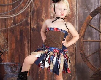 Boutique custom handmade pageant girls Halloween Costume Cowgirl Western Rodeo Skirt, tutu, corset