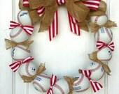 SALE!!! Baseball Wreath - Perfect baseball decor for the avid fan!! Made with REAL baseballs!!!
