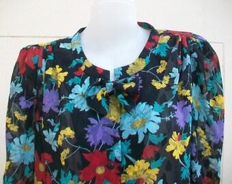 Vintage Nina  Ricci les blouses / Sheer Blouse Size 11.