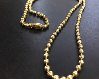 Military chain 6mm 16in 18k Goldfilled necklace  AP1123