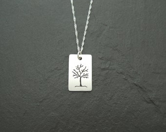 Sterling silver Tree design pendant