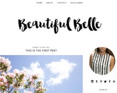Pre made blogger template - Beautiful Belle minimalist design includes free installation