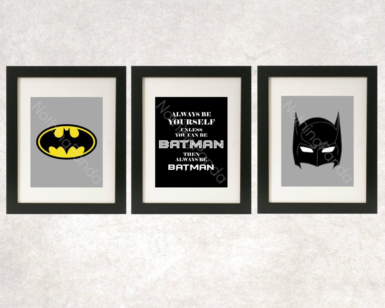 zoom. Batman Art    Superhero Wall Art    Always Be Batman Prints