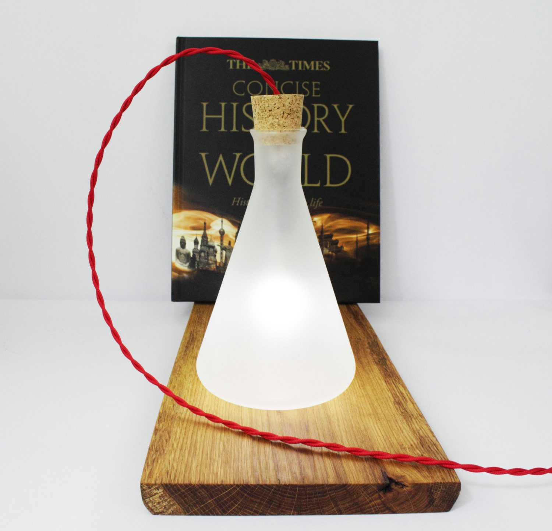 Industrial glass table lamp floor lamp by rokdesignstudio for Diy glass floor lamp