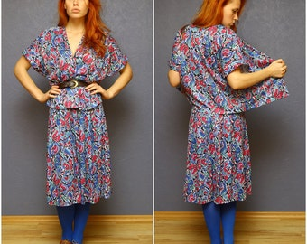 DAMART - Colorful vintage two-piece costume from the 1970's / Small size S - XS