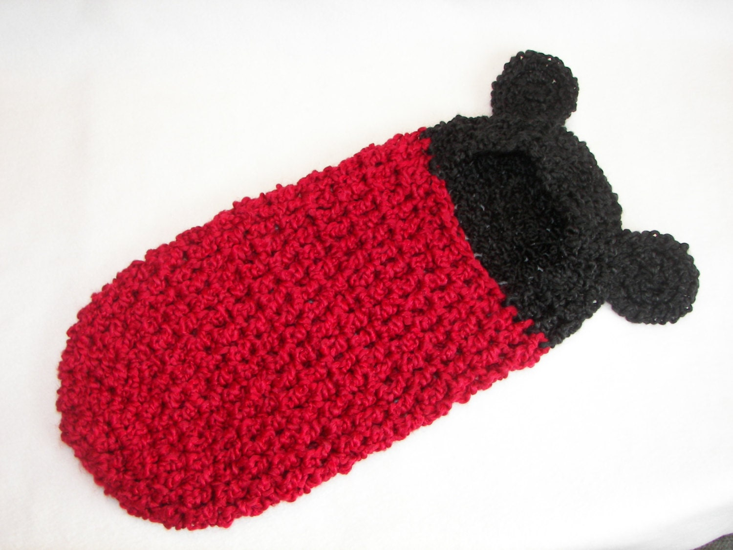 Free Crochet Pattern Hooded Cocoon : Crochet Pattern Newborn Hooded Cocoon Pod Mickey Mouse