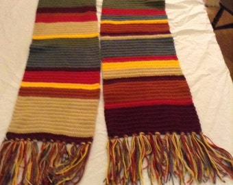 Doctor Who Scarf, Crochet Scarf, Multicoloured Scarf, Doctor Who Fans, Gifts for him, Gifts for her