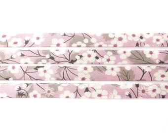 Mitsi P Liberty bias binding 1x Yard - 10mm wide, Liberty cotton fabric tape UK, sewing supplies, jewellery making materials