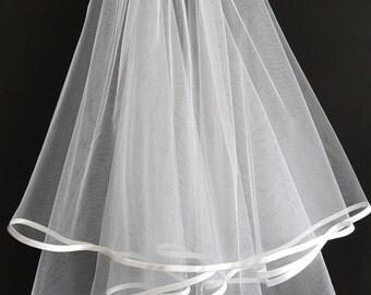 White Wedding Veil, Two Layers